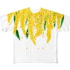 アイネっこのお店のうさぎとミモザ Full Graphic T-Shirt