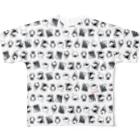レモネードプールのオバケちゃん総柄 フルグラフィックTシャツ