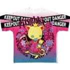 暗闇精神病棟の斬殺にゃんこ Full graphic T-shirts