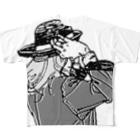 中村香月の帽子をかぶり直す Full graphic T-shirts