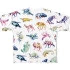 どうぶつのホネ、ときどきキョウリュウ。のどうぶつのホネ[pattern-A] Full graphic T-shirts