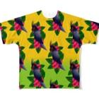 どんすけのヤシオウム Full graphic T-shirts