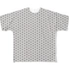Japonismの麻の葉総柄 Full graphic T-shirts