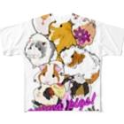 nins・にんずのモルモット大集合2 Full graphic T-shirts