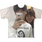 momi_のアラタ・フリハタTシャツ 「親孝行」 Full graphic T-shirts