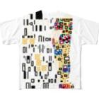 256graphのドットで名画「接吻」 Full graphic T-shirts