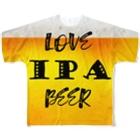 8garage SUZURI SHOPのlove IPA beer ver2 フルグラフィックTシャツ