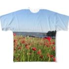 ÜKのポピー Full graphic T-shirts