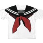 犬田猫三郎の制服 Full graphic T-shirts