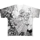 ジロウの翔ぶスケーター Full graphic T-shirts