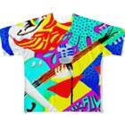 ぶんほー屋さんのデジタルプレスリーズのジャケ写 Full graphic T-shirts