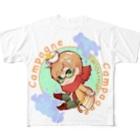 YOUMSのパン・ド・カンパーニュ ちびキャラver  Full graphic T-shirts