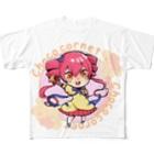 YOUMSのちょこころね ちびキャラver  Full graphic T-shirts