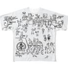 YOUMSの地獄極楽兎座戯画 月白(げっぱく) Full graphic T-shirts