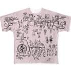 YOUMSの地獄極楽兎座戯画 桜(さくら) Full graphic T-shirts
