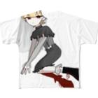どすこい大胸筋のかわいい Full graphic T-shirts