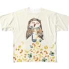 照福商店の今日はシチューの日(フクロウB)其の二 Full graphic T-shirts