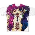 味噌田楽のコルセットピアス Full graphic T-shirts