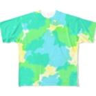 小望キナのショップのDripping Drop Full graphic T-shirts