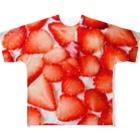lucky wonder worldのロイヤルクイーンのチョコスポンジケーキ Full graphic T-shirts