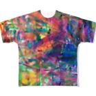 tomo4のカラフル Full graphic T-shirts