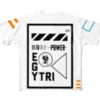 Ï∞n(イオン)のEgyptian Triangle spacesuit Full graphic T-shirts