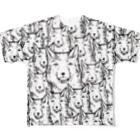 PygmyCat suzuri店のチベットスナギツネ_虚無ホワイト Full graphic T-shirts