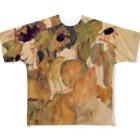 Takahashijunのエゴンシーレ ひまわり 1911 アート系 Full graphic T-shirts