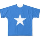 大のソマリア国旗 全柄 Full graphic T-shirts