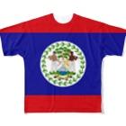大のベリーズ国旗 全柄 Full graphic T-shirts