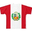 大のペルー国旗 全柄 Full graphic T-shirts
