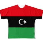 大のリビア国旗 全柄 Full graphic T-shirts
