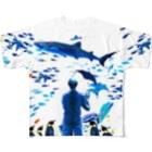 ぎんじろの水族館(裏面なし) Full graphic T-shirts