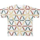 herbrecordzの刺子ラスタ Full graphic T-shirts
