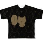PygmyCat suzuri店の「ニャー(ブラック)」 Full graphic T-shirts