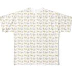 Sharroodの馬と花のTシャツ(フルグラフィックA) Full graphic T-shirts