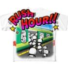 しゅりんぷぅ2番館の満員ラッシュアワー Full graphic T-shirts