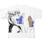 ゆのの青いスニーカー Full graphic T-shirts