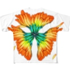 片耳のガーベラ Full graphic T-shirts