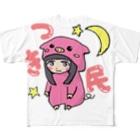 月丘つかさ🌙のつき民ロゴTシャツ Full graphic T-shirts