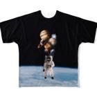 braainのまんまるうちゅう君 Full graphic T-shirts