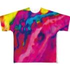 なまくらさくらのデジタルタイダイ Full graphic T-shirts
