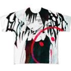 SHINAのスーサイドちゃんエモグラフィックT Full graphic T-shirts