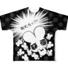 ねむたいカンパニーのねむたいTシャツ~ねむけましまし~フルグラフィックTシャツ