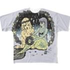 石川真衣の人魚と犬イケメンTシャツ All-Over Print T-Shirt
