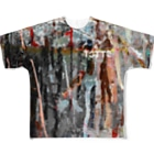 tottoのペイントグラフィック(白文字) Full graphic T-shirts