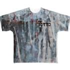 tottoのペイントグラフィック(黒文字) Full graphic T-shirts
