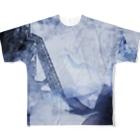 suparnaの破壊と創造 烟る街 おもてロゴ無し Full graphic T-shirts