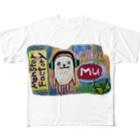 ねこぜや のモンスター工場🏭ミュー Full graphic T-shirts