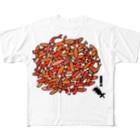 のんぼうLINEスタンプのNO‼︎仲間はずれ Full graphic T-shirts